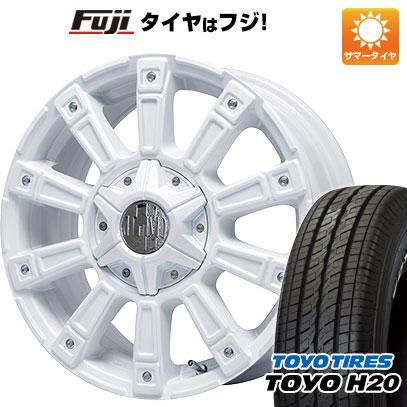タイヤはフジ 送料無料 NV350キャラバン LEHRMEISTER レアマイスター モウスト(ホワイト) 6.5J 6.50-17 TOYO H20 NEWホワイトレター 215/60R17 17インチ サマータイヤ ホイール4本セット