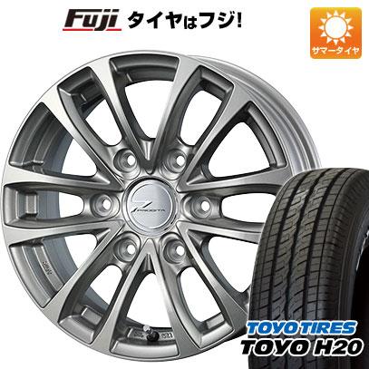タイヤはフジ 送料無料 NV350キャラバン WEDS ウェッズ プロディータ HC 5.5J 5.50-15 TOYO H20 NEWホワイトレター 195/80R15 15インチ サマータイヤ ホイール4本セット