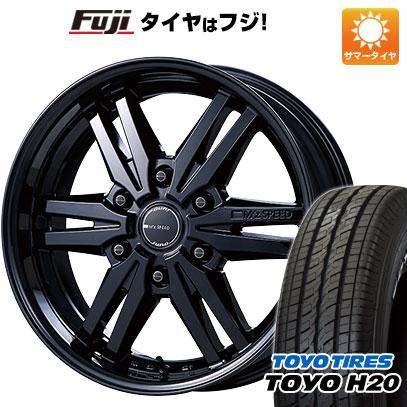 タイヤはフジ 送料無料 ハイエース200系 MZ SPEED エムズスピード ジュノウ 859モノブロック 6.5J 6.50-17 TOYO H20 NEWホワイトレター 215/60R17 17インチ サマータイヤ ホイール4本セット