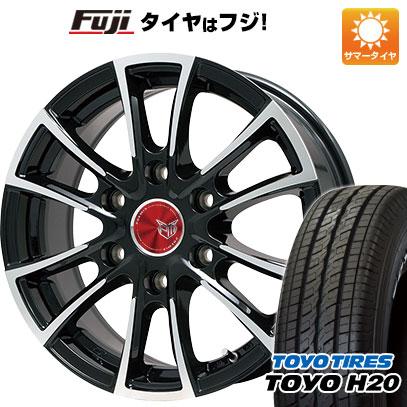 タイヤはフジ 送料無料 NV350キャラバン PREMIX プレミックス 車道(ブラックポリッシュ) 6.5J 6.50-16 TOYO H20 NEWホワイトレター 215/65R16 16インチ サマータイヤ ホイール4本セット