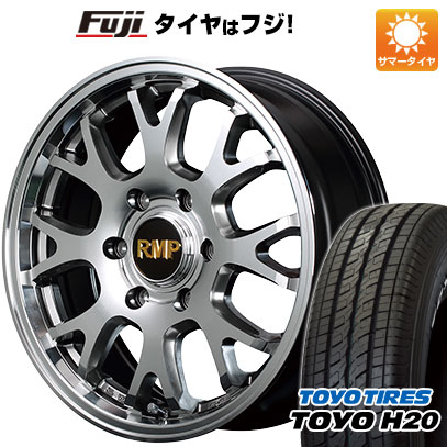 タイヤはフジ 送料無料 ハイエース200系 MID RMP 028FX 6.5J 6.50-17 TOYO H20 NEWホワイトレター 215/60R17 17インチ サマータイヤ ホイール4本セット