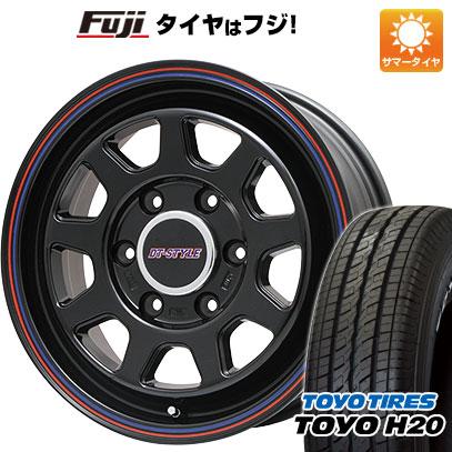 タイヤはフジ 送料無料 NV350キャラバン BIGWAY ビッグウエイ DT-STYLE 6.5J 6.50-17 TOYO H20 NEWホワイトレター 215/60R17 17インチ サマータイヤ ホイール4本セット