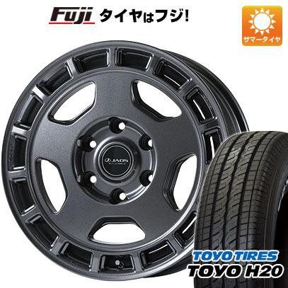 タイヤはフジ 送料無料 NV350キャラバン JAOS ヴィクトロン アステラ CM-04 6.5J 6.50-17 TOYO H20 NEWホワイトレター 215/60R17 17インチ サマータイヤ ホイール4本セット
