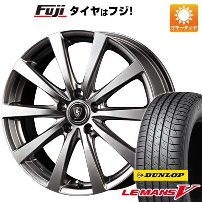 タイヤはフジ 送料無料 MID ユーロスピード G10 7J 7.00-17 DUNLOP ルマン V(ファイブ) 215/50R17 17インチ サマータイヤ ホイール4本セット