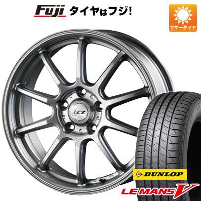 タイヤはフジ 送料無料 INTER MILANO インターミラノ LCZ 010 7J 7.00-18 DUNLOP ルマン V(ファイブ) 215/40R18 18インチ サマータイヤ ホイール4本セット