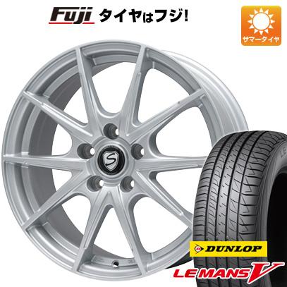 タイヤはフジ 送料無料 BRANDLE ブランドル 039 7.5J 7.50-18 DUNLOP ルマン V(ファイブ) 225/55R18 18インチ サマータイヤ ホイール4本セット