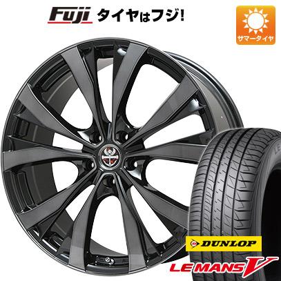タイヤはフジ 送料無料 PREMIX プレミックス サッシカイア(ブラッククリア) F:8.50-20 R:9.50-20 DUNLOP ルマン V(ファイブ) 245/40R20 20インチ サマータイヤ ホイール4本セット