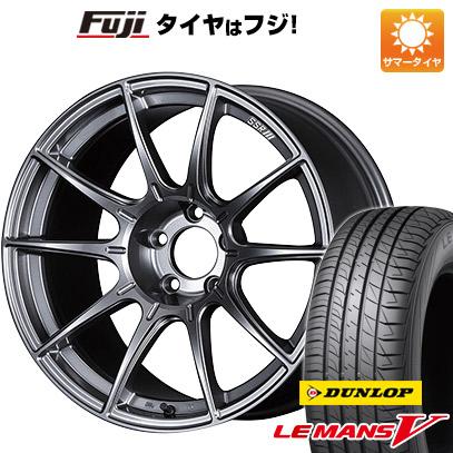タイヤはフジ 送料無料 SSR GTX01 5J 5.00-15 DUNLOP ルマン V(ファイブ) 165/60R15 15インチ サマータイヤ ホイール4本セット