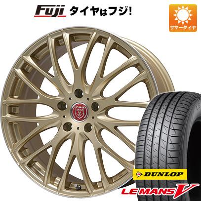 タイヤはフジ 送料無料 PREMIX プレミックス グラッパ(ゴールド/リムポリッシュ) 7.5J 7.50-19 DUNLOP ルマン V(ファイブ) 225/40R19 19インチ サマータイヤ ホイール4本セット