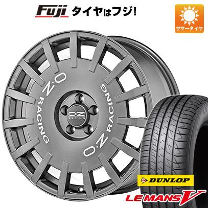 タイヤはフジ 送料無料 OZ ラリーレーシング 8J 8.00-19 DUNLOP ルマン V(ファイブ) 225/40R19 19インチ サマータイヤ ホイール4本セット