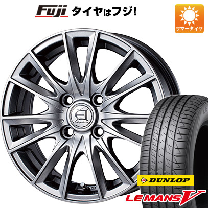 タイヤはフジ 送料無料 ソリオ(MA26S) TECHNOPIA テクノピア アフロディーテ EF 4.5J 4.50-14 DUNLOP ルマン V(ファイブ) 165/70R14 14インチ サマータイヤ ホイール4本セット