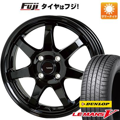 タイヤはフジ 送料無料 HOT STUFF ホットスタッフ ジースピード G-03 4.5J 4.50-14 DUNLOP ルマン V(ファイブ) 155/65R14 14インチ サマータイヤ ホイール4本セット