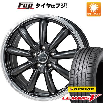 タイヤはフジ 送料無料 MONZA モンツァ JPスタイル バーニー 6.5J 6.50-16 DUNLOP ルマン V(ファイブ) 205/60R16 16インチ サマータイヤ ホイール4本セット