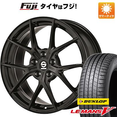 タイヤはフジ 送料無料 OZ SPARCO ポディオ 7.5J 7.50-17 DUNLOP ルマン V(ファイブ) 215/55R17 17インチ サマータイヤ ホイール4本セット