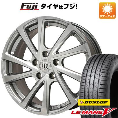 タイヤはフジ 送料無料 BRANDLE ブランドル E04 7J 7.00-17 DUNLOP ルマン V(ファイブ) 215/45R17 17インチ サマータイヤ ホイール4本セット