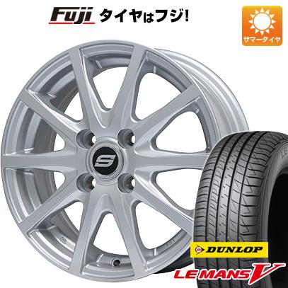 タイヤはフジ 送料無料 BRANDLE ブランドル M71 5.5J 5.50-14 DUNLOP ルマン V(ファイブ) 185/70R14 14インチ サマータイヤ ホイール4本セット