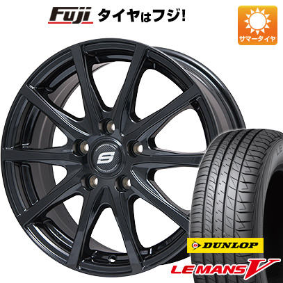 タイヤはフジ 送料無料 BRANDLE ブランドル M71B 6J 6.00-16 DUNLOP ルマン V(ファイブ) 205/60R16 16インチ サマータイヤ ホイール4本セット