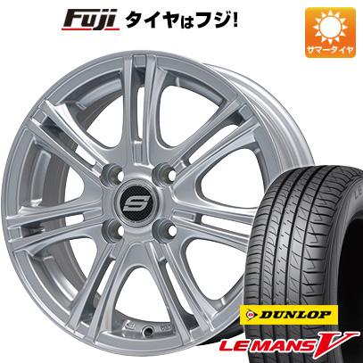 タイヤはフジ 送料無料 BRANDLE ブランドル M68 5.5J 5.50-14 DUNLOP ルマン V(ファイブ) 165/70R14 14インチ サマータイヤ ホイール4本セット