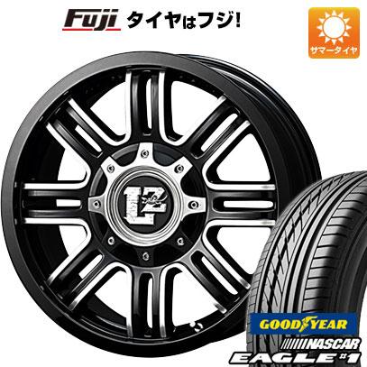 タイヤはフジ 送料無料 ハイエース200系 G-CORPORATION ラウンジリザード LZ-1 7J 7.00-16 GOODYEAR EAGLE 1 NASCAR LT(限定) 215/65R16 16インチ サマータイヤ ホイール4本セット
