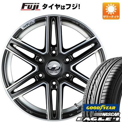 タイヤはフジ 送料無料 NV350キャラバン IMPUL インパル CX-06 6.5J 6.50-17 GOODYEAR EAGLE 1 NASCAR LT(限定) 215/60R17 17インチ サマータイヤ ホイール4本セット