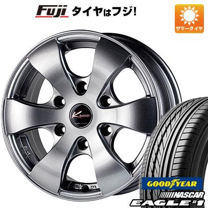 タイヤはフジ 送料無料 NV350キャラバン 5ZIGEN ゴジゲン KOMA3 6J 6.00-15 GOODYEAR EAGLE 1 NASCAR LT(限定) 195/80R15 15インチ サマータイヤ ホイール4本セット