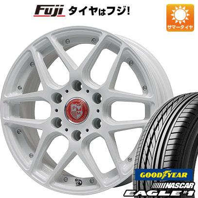 タイヤはフジ 送料無料 ハイエース200系 PREMIX プレミックス ミュンスター(ホワイト) 6.5J 6.50-16 GOODYEAR EAGLE 1 NASCAR LT(限定) 215/65R16 16インチ サマータイヤ ホイール4本セット