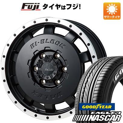 タイヤはフジ 送料無料 ハイエース200系 MONZA モンツァ HI-BLOCK バレックス 6J 6.00-15 GOODYEAR EAGLE 1 NASCAR LT(限定) 195/80R15 15インチ サマータイヤ ホイール4本セット
