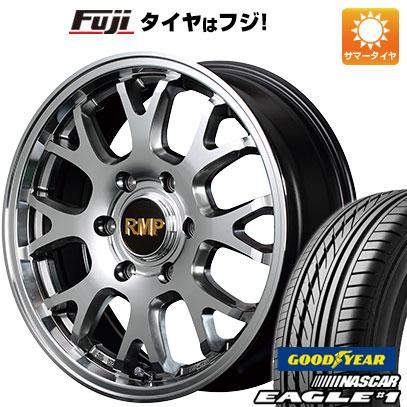 タイヤはフジ 送料無料 ハイエース200系 MID RMP 028FX 6.5J 6.50-17 GOODYEAR EAGLE 1 NASCAR LT(限定) 215/60R17 17インチ サマータイヤ ホイール4本セット