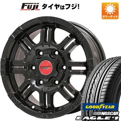 タイヤはフジ 送料無料 NV350キャラバン BIGWAY ビッグウエイ B-MUD X(グロスブラック) 6J 6.00-15 GOODYEAR EAGLE 1 NASCAR LT(限定) 195/80R15 15インチ サマータイヤ ホイール4本セット
