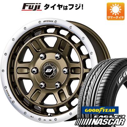 タイヤはフジ 送料無料 ハイエース200系 WORK ワーク クラッグ ティーグラビックII 6.5J 6.50-16 GOODYEAR EAGLE 1 NASCAR LT(限定) 215/65R16 16インチ サマータイヤ ホイール4本セット