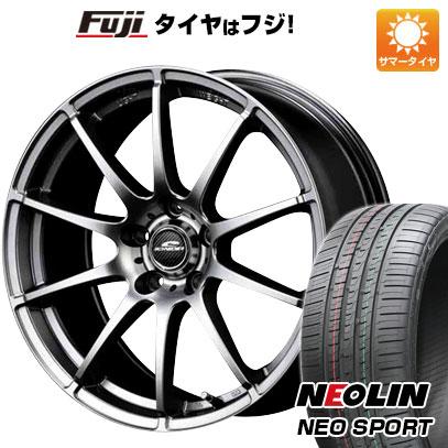 タイヤはフジ 送料無料 MID シュナイダー スタッグ 7J 7.00-17 NEOLIN ネオリン ネオスポーツ(限定) 215/45R17 17インチ サマータイヤ ホイール4本セット