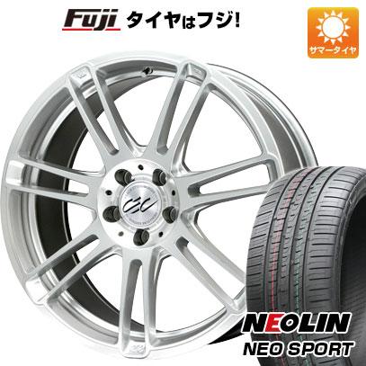 タイヤはフジ 送料無料 CEC C883限定 8J 8.00-19 NEOLIN ネオリン ネオスポーツ(限定) 215/35R19 19インチ サマータイヤ ホイール4本セット