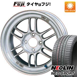 タイヤはフジ 送料無料 ENKEI エンケイ RP-F1 7J 7.00-17 NEOLIN ネオリン ネオスポーツ(限定) 225/55R17 17インチ サマータイヤ ホイール4本セット