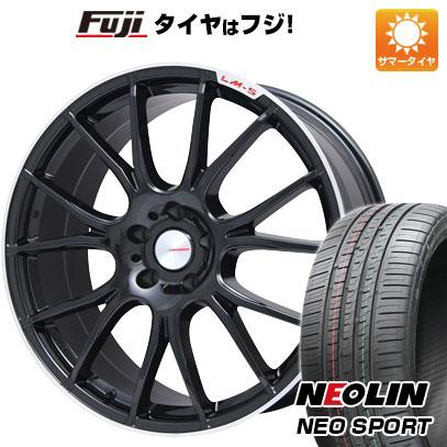 タイヤはフジ 送料無料 LEHRMEISTER LM-S ヴェネート7 (ブラック/リムポリッシュ) 8.5J 8.50-19 NEOLIN ネオリン ネオスポーツ(限定) 245/45R19 19インチ サマータイヤ ホイール4本セット