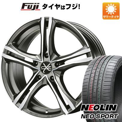 タイヤはフジ 送料無料 OZ X-LINE X5B 8J 8.00-19 NEOLIN ネオリン ネオスポーツ(限定) 235/35R19 19インチ サマータイヤ ホイール4本セット