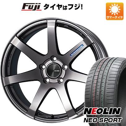 タイヤはフジ 送料無料 ENKEI エンケイ PF07 7J 7.00-17 NEOLIN ネオリン ネオスポーツ(限定) 215/45R17 17インチ サマータイヤ ホイール4本セット