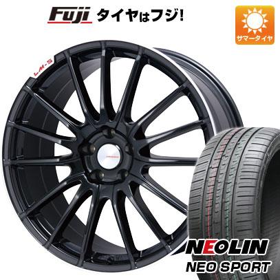 タイヤはフジ 送料無料 LEHRMEISTER LM-S トレント15 (ブラック/リムポリッシュ) F:8.50-20 R:9.50-20 NEOLIN ネオリン ネオスポーツ(限定) 245/35R20 20インチ サマータイヤ ホイール4本セット