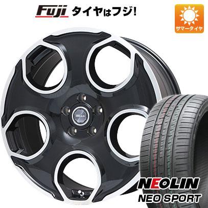 タイヤはフジ 送料無料 PREMIX プレミックス ギア(パールブラックポリッシュ) 8.5J 8.50-20 NEOLIN ネオリン ネオスポーツ(限定) 225/35R20 20インチ サマータイヤ ホイール4本セット