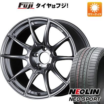 タイヤはフジ 送料無料 SSR GTX01 7.5J 7.50-18 NEOLIN ネオリン ネオスポーツ(限定) 215/40R18 18インチ サマータイヤ ホイール4本セット