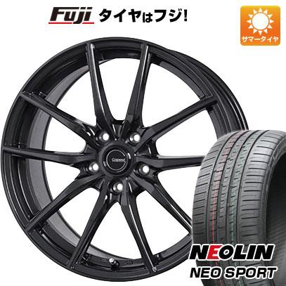 タイヤはフジ 送料無料 HOT STUFF ホットスタッフ ジースピード G-02 7.5J 7.50-18 NEOLIN ネオリン ネオスポーツ(限定) 225/40R18 18インチ サマータイヤ ホイール4本セット
