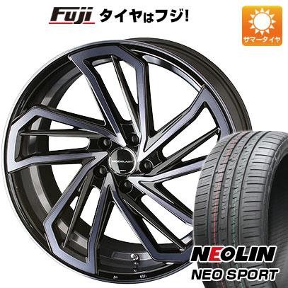 タイヤはフジ 送料無料 KYOHO 共豊 AME モデラートリヴァイバー モノブロック 7.5J 7.50-18 NEOLIN ネオリン ネオスポーツ(限定) 215/40R18 18インチ サマータイヤ ホイール4本セット