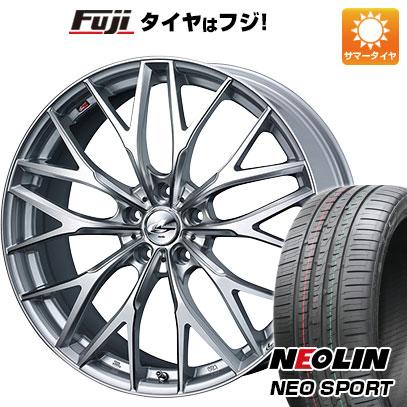 タイヤはフジ 送料無料 WEDS ウェッズ レオニス MX 7J 7.00-18 NEOLIN ネオリン ネオスポーツ(限定) 215/40R18 18インチ サマータイヤ ホイール4本セット