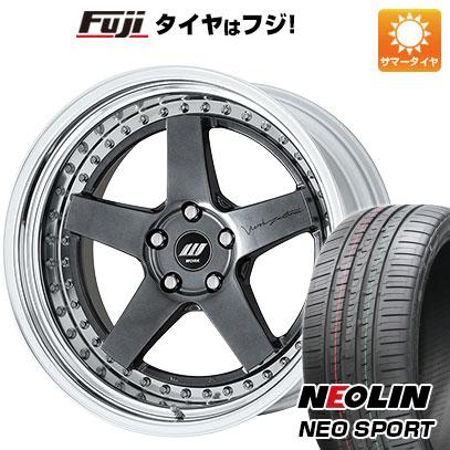 タイヤはフジ 送料無料 WORK ワーク ジスタンス W5S サンドイッチ 8.5J 8.50-20 NEOLIN ネオリン ネオスポーツ(限定) 225/35R20 20インチ サマータイヤ ホイール4本セット