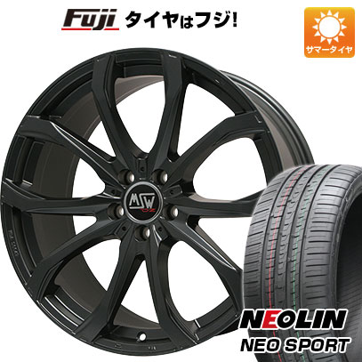 タイヤはフジ 送料無料 MSW by OZ Racing MSW 48(マットブラック) 7.5J 7.50-17 NEOLIN ネオリン ネオスポーツ(限定) 215/45R17 17インチ サマータイヤ ホイール4本セット