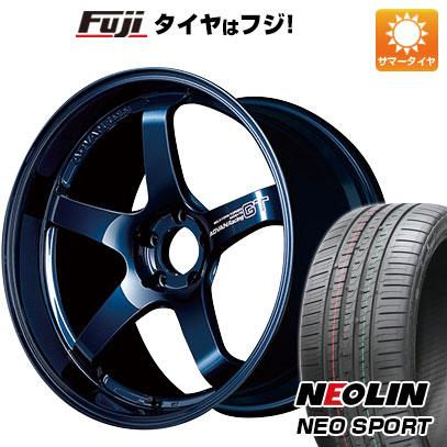 【取付対象】【送料無料】 225/45R18 18インチ YOKOHAMA ヨコハマ アドバンレーシング GT プレミアムバージョン 8J 8.00-18 NEOLIN ネオリン ネオスポーツ(限定) サマータイヤ ホイール4本セット