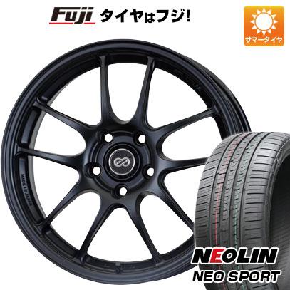 タイヤはフジ 送料無料 ENKEI エンケイ PF01 7J 7.00-17 NEOLIN ネオリン ネオスポーツ(限定) 215/45R17 17インチ サマータイヤ ホイール4本セット