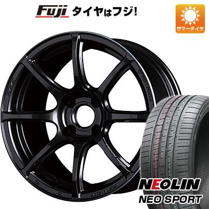 タイヤはフジ 送料無料 RAYS レイズ グラムライツ 57トランセンド 7J 7.00-17 NEOLIN ネオリン ネオスポーツ(限定) 215/45R17 17インチ サマータイヤ ホイール4本セット
