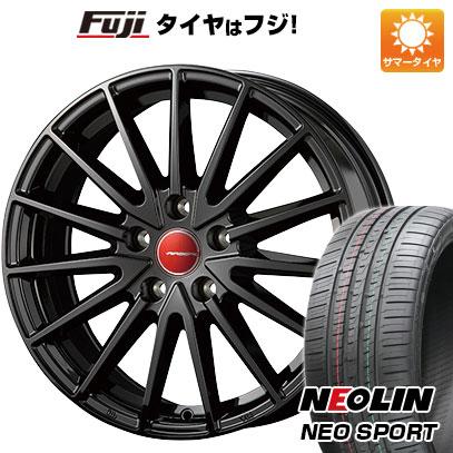 タイヤはフジ 送料無料 KOSEI コーセイ エアベルグ ゼノン 7J 7.00-18 NEOLIN ネオリン ネオスポーツ(限定) 215/40R18 18インチ サマータイヤ ホイール4本セット