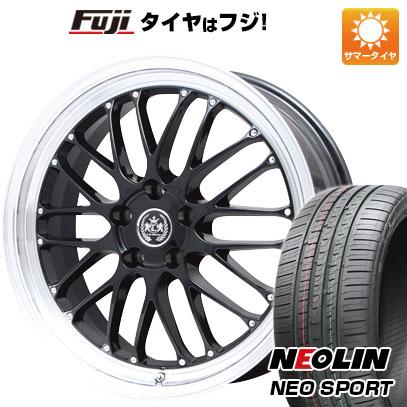 タイヤはフジ 送料無料 LEHRMEISTER レアマイスター ブルネッロ ブラックリムポリッシュ限定 8.5J 8.50-20 NEOLIN ネオリン ネオスポーツ(限定) 245/45R20 20インチ サマータイヤ ホイール4本セット