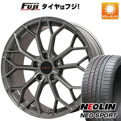タイヤはフジ 送料無料 LEHRMEISTER レアマイスター LMスポーツLM-55M (マットガンメタ) 7.5J 7.50-17 NEOLIN ネオリン ネオスポーツ(限定) 225/55R17 17インチ サマータイヤ ホイール4本セット